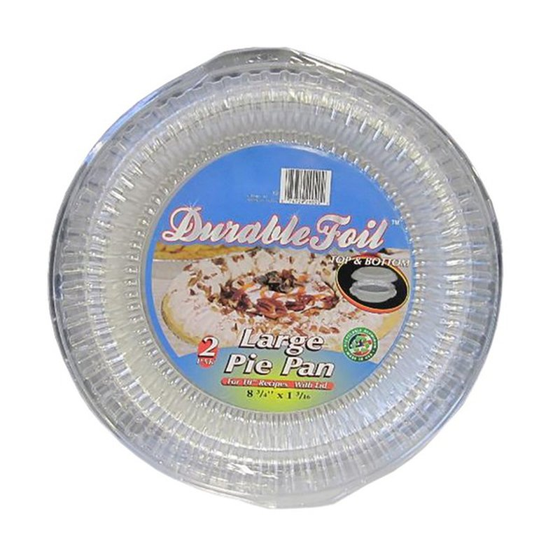 Durable Large Foil Pie Pan with Dome Lid
