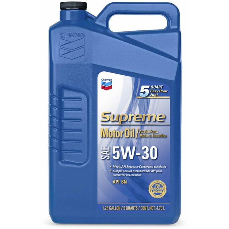 Chevron Supreme 5W-30 SAE Motor Oil