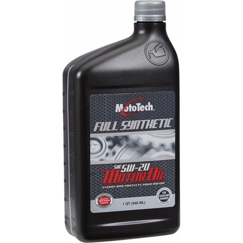 Moto Tech 5 W 20 Sae Full Synthetic Motor Oil
