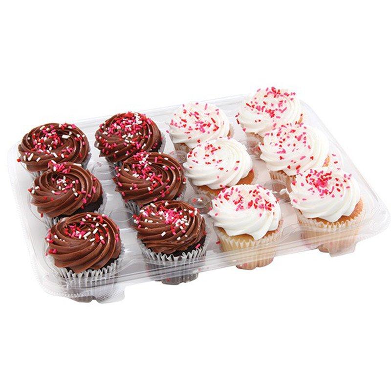 6 White & 6 Chocolate Basic Cupcake