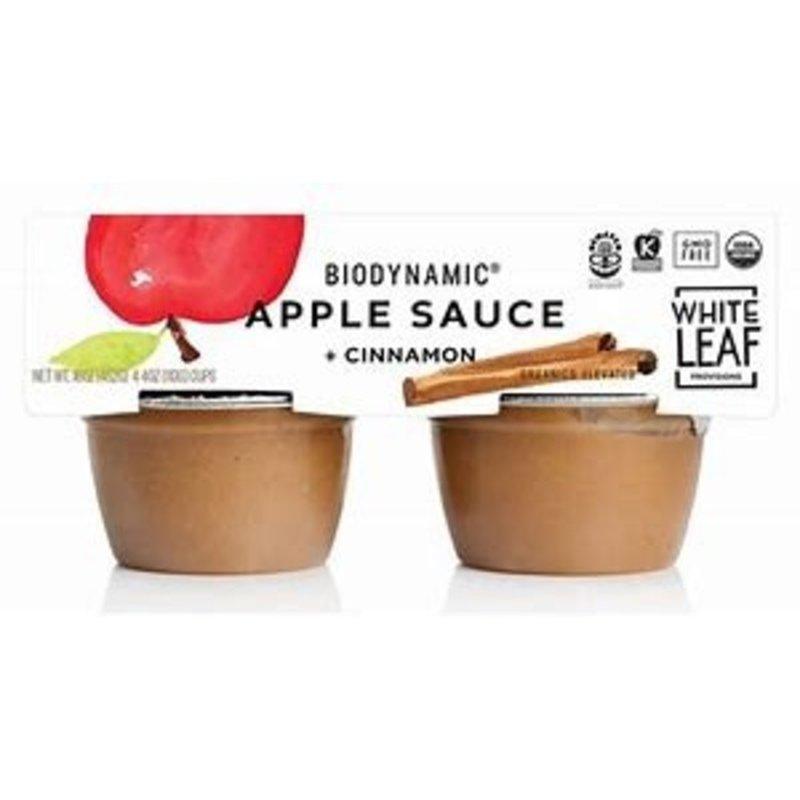White Leaf Provisions Biodynamic Apple Sauce + Cinnamon