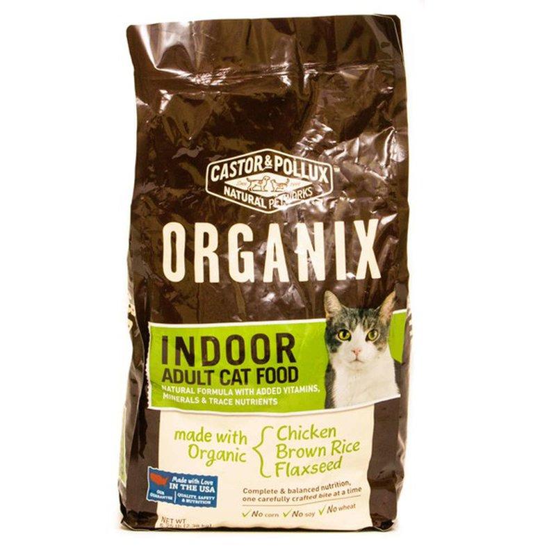 Castor & Pollux Organix Chicken & Brown Rice Flaxseed Indoor Adult Cat Food