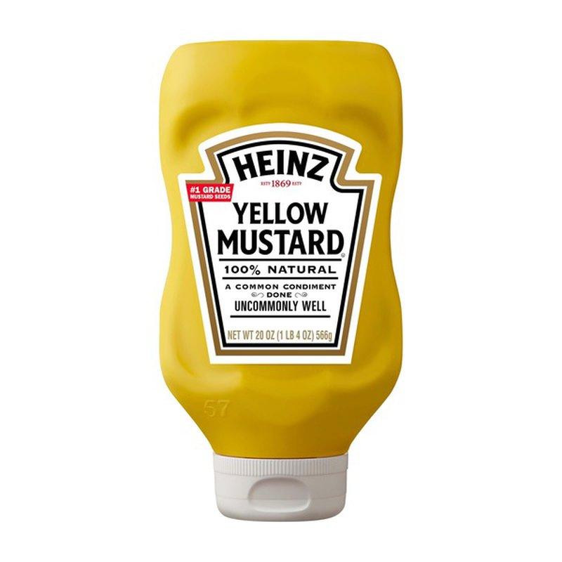 Heinz Yellow Mustard (20 oz) from H-E-B - Instacart