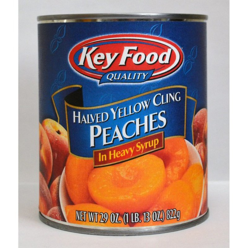 Key Food Halved Yellow Cling Peaches In Heavy Syrup