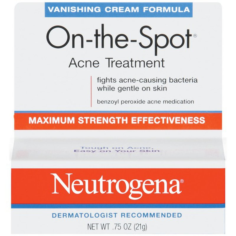 Neutrogena On The Spot Acne Treatment 0 75 Oz From Schnucks