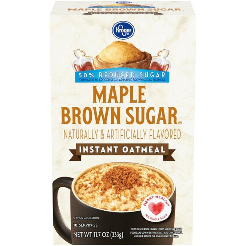 Kroger Maple Brown Sugar Instant Oatmeal