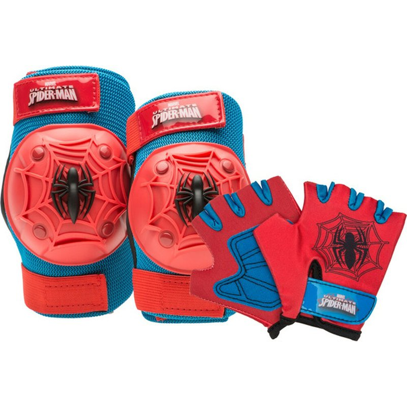 Bell Red & Blue Spiderman Pad & Glove Set for 3+ Years Kids