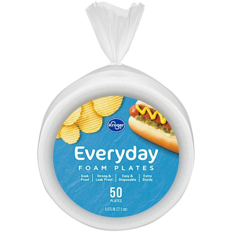 Kroger Everyday Foam Plates