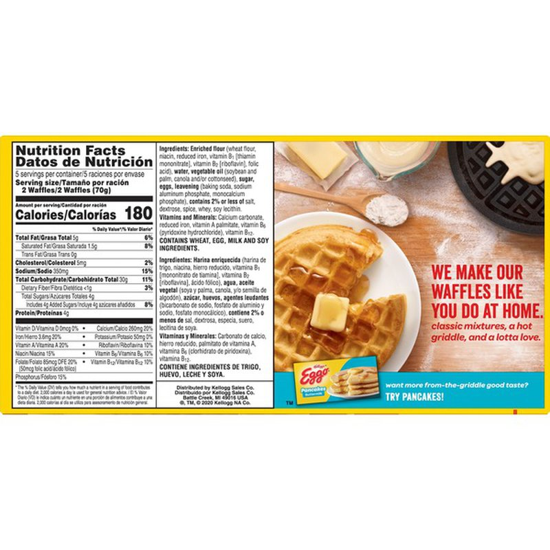 Kellogg's Eggo Frozen Waffles Homestyle