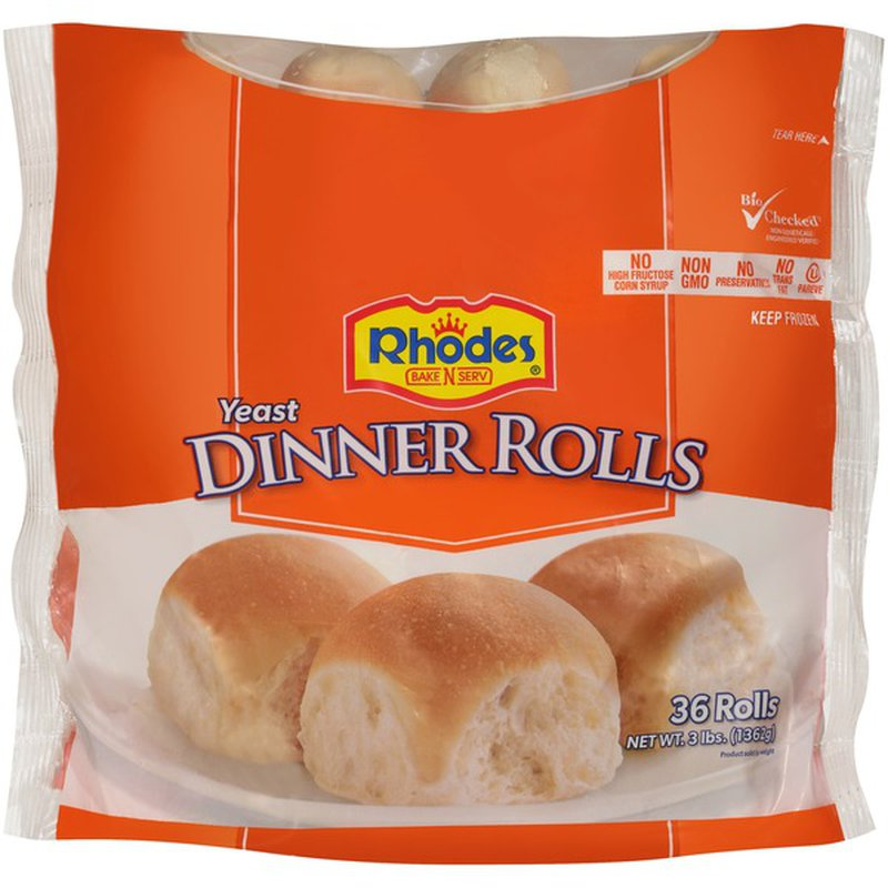 Rhodes Yeast Dinner Frozen Rolls Dough 36 Ct Instacart