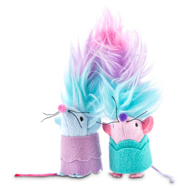 Petco Animal Supplies Trolls Motion Picture Mice Twin Toys for Cats
