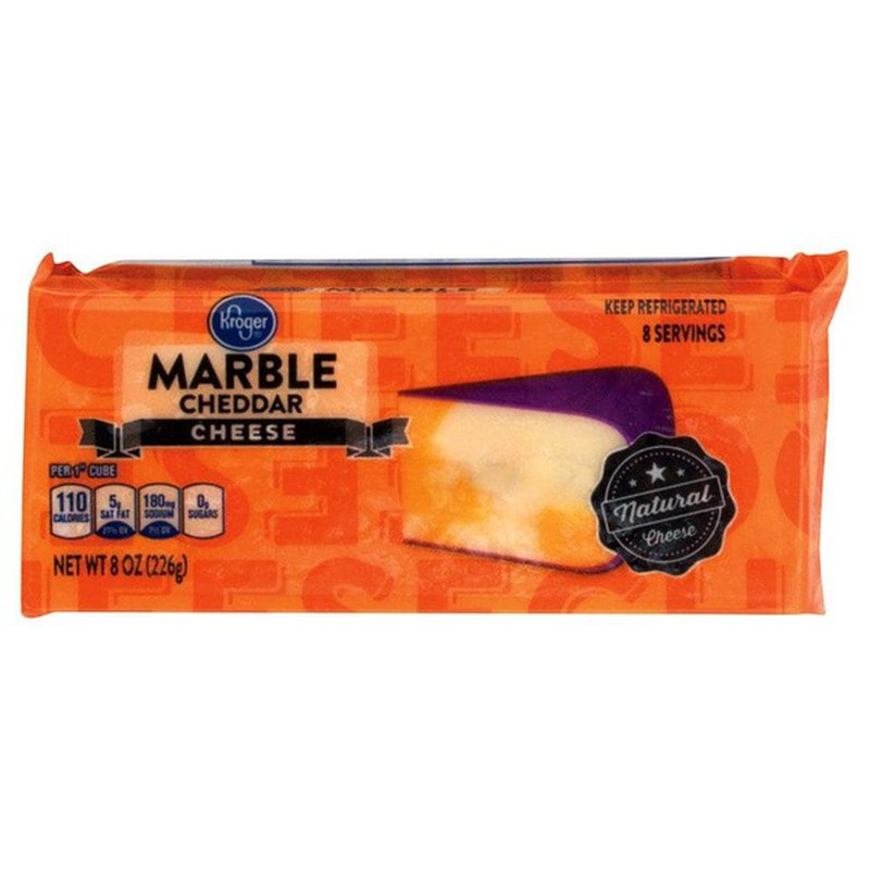 Kroger Marble Cheddar Cheese Block 8 Oz Instacart