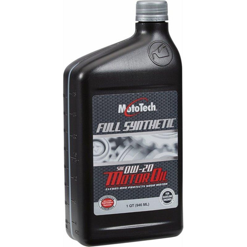 Moto Tech 0W-20 SAE Full Synthetic Motor Oil