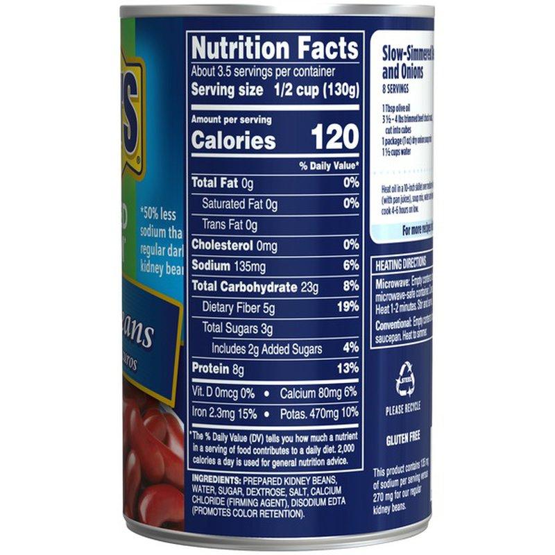 Bush S Best Reduced Sodium Dark Red Kidney Beans 16 Oz From Giant Food Instacart