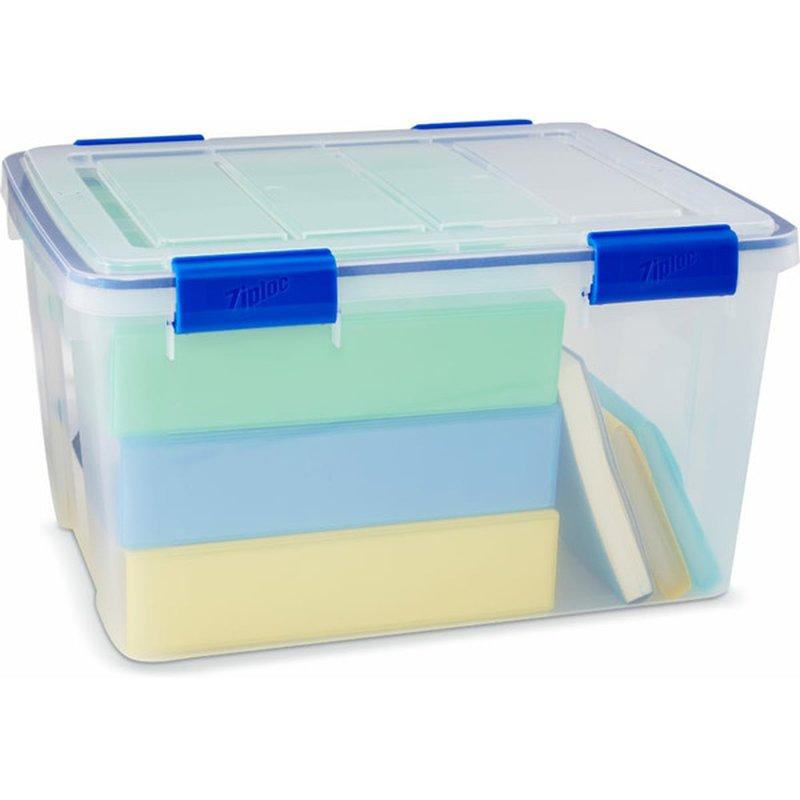 Ziploc 44 Quart Clear Weather Tight Storage Box