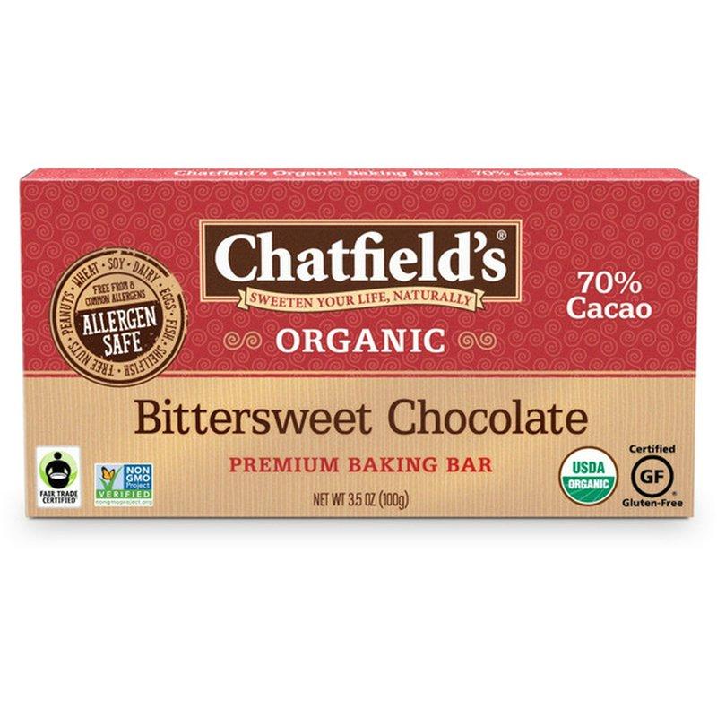 Chatfield's Organic Bittersweet Chocolate Premium Baking Bar