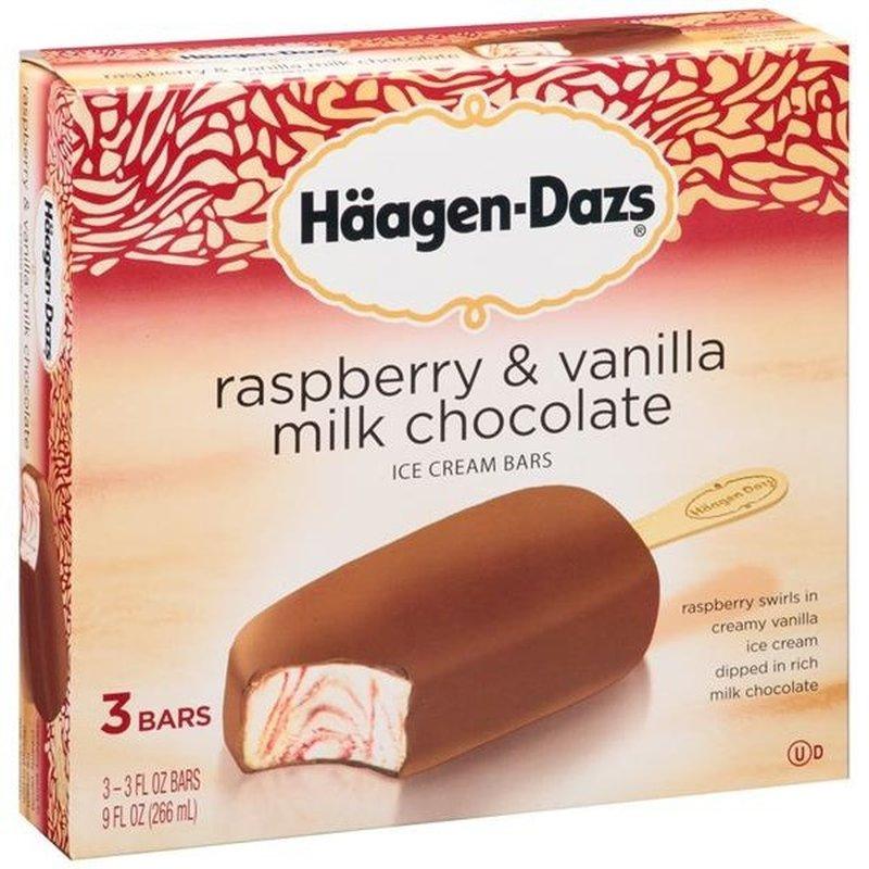 Haagen-Dazs Raspberry & Vanilla Milk Chocolate Ice Cream Bars