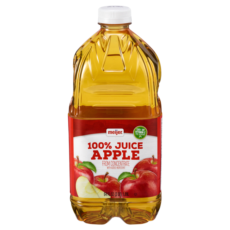 Meijer 100% Apple Juice From Concentrate