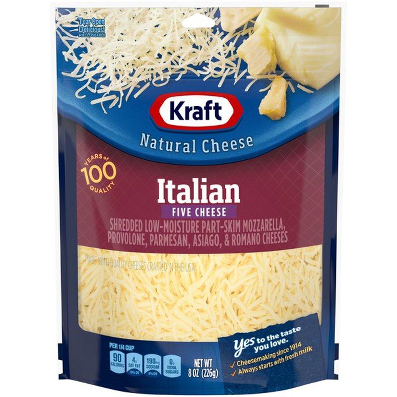 Kraft Shredded Italian Five Cheese