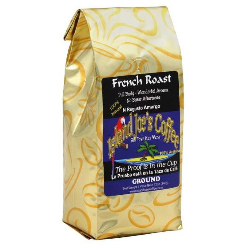 Island Joes Coffee Coffee, 100% Arabica, Ground, French Roast