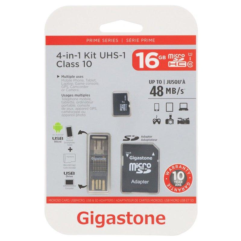 Gigastone 4N1 16 GB Micro SD Card