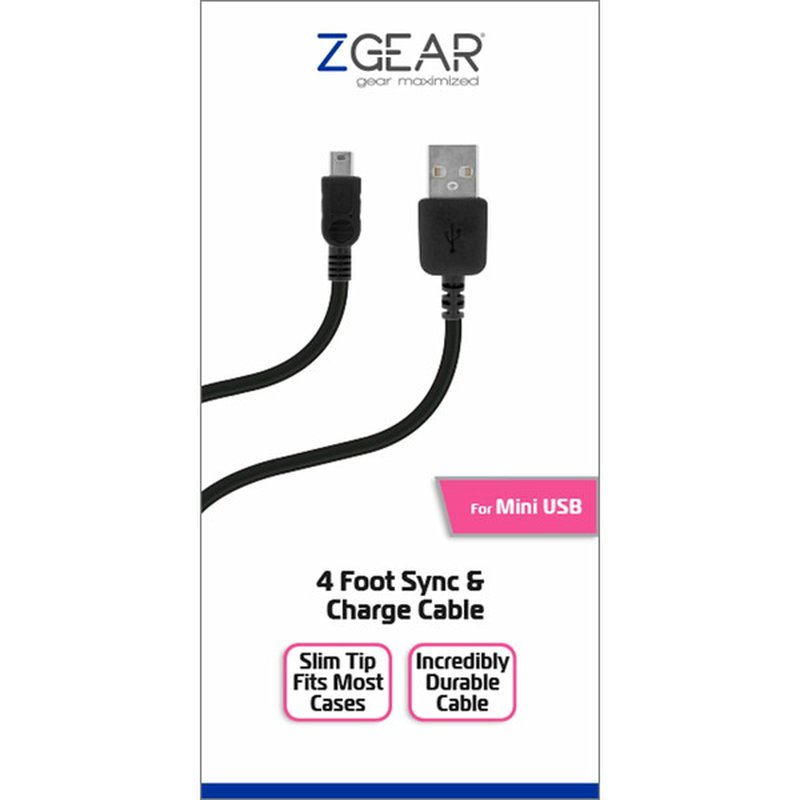 Mobile Market 4' USB-to-Mini USB Sync & Charge Cable