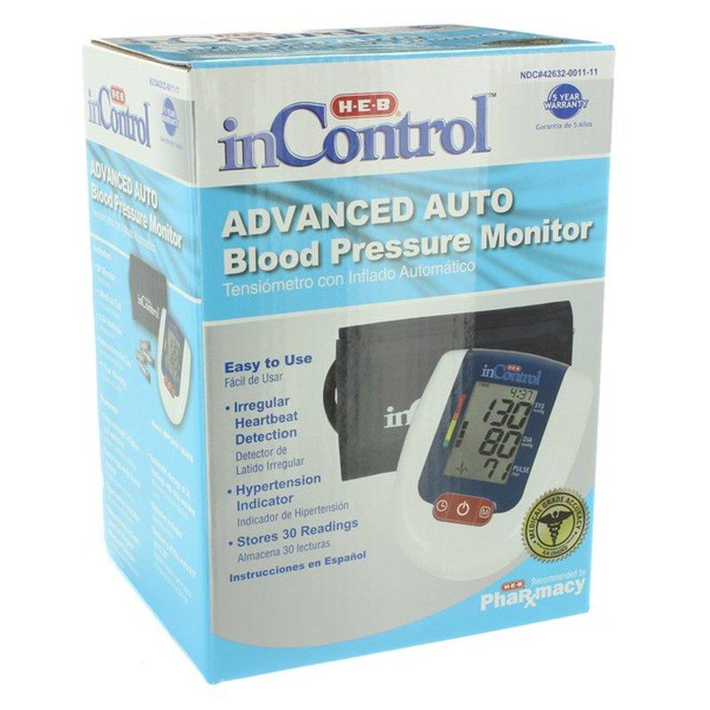 H-E-B In Control Advanced Auto Blood Pressure Monitor