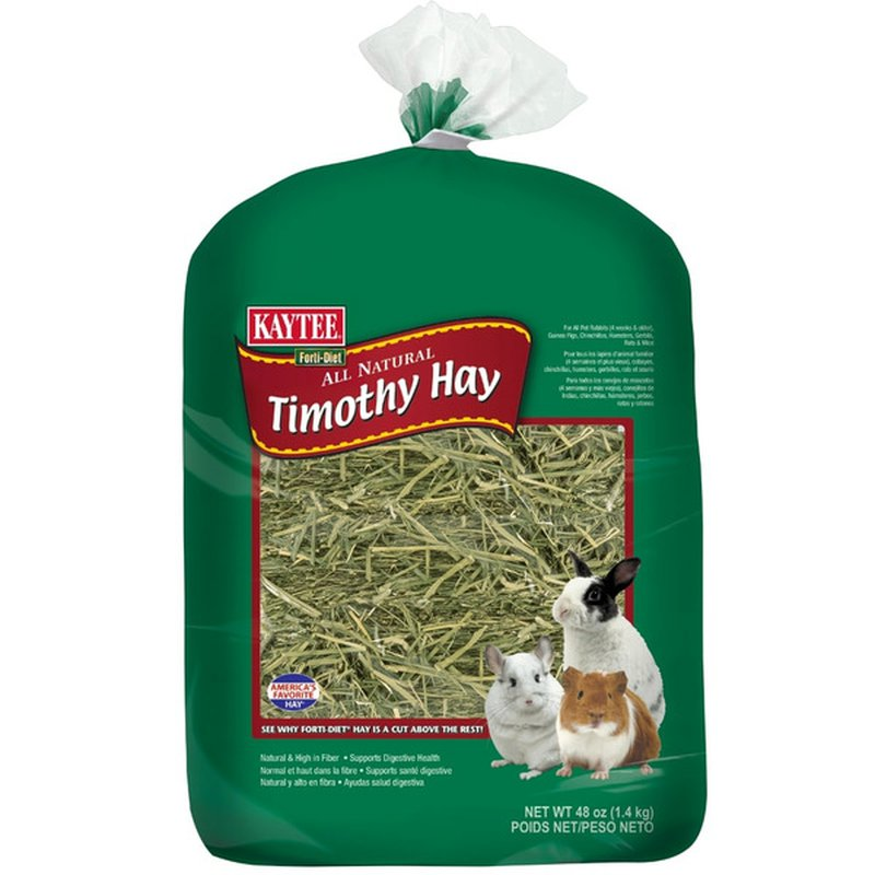 Kaytee Forti-Diet NATURAL Timothy Hay For All Pet Rabbits