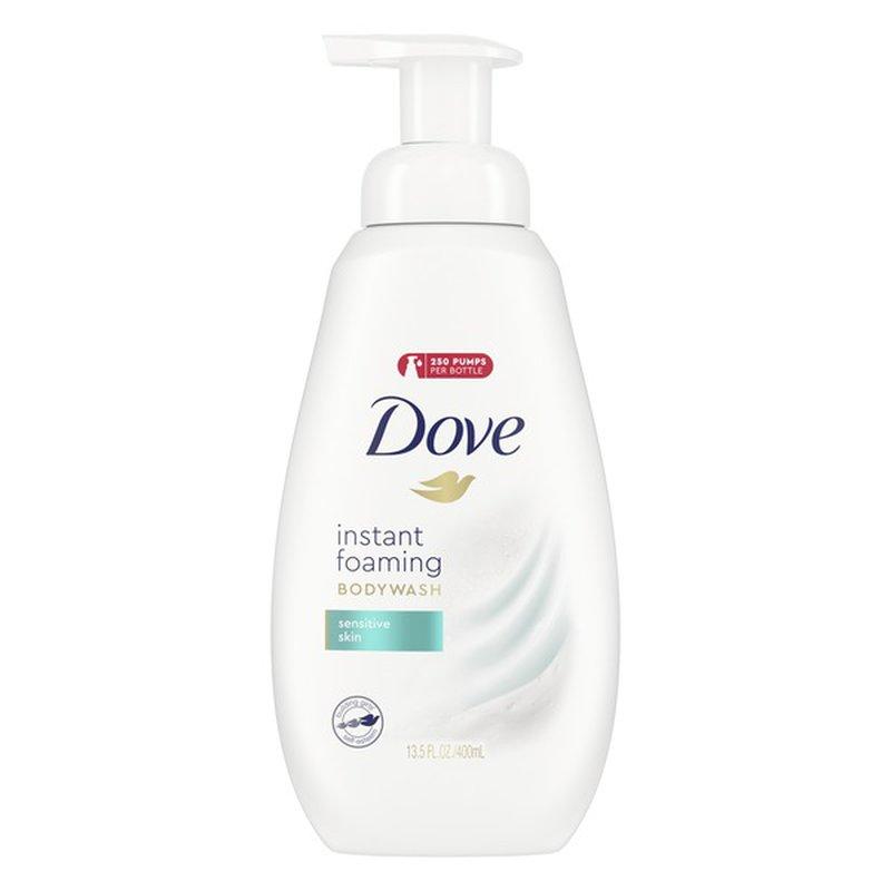 Dove Instant Foaming Body Wash Sensitive Skin 13 5 Oz Instacart