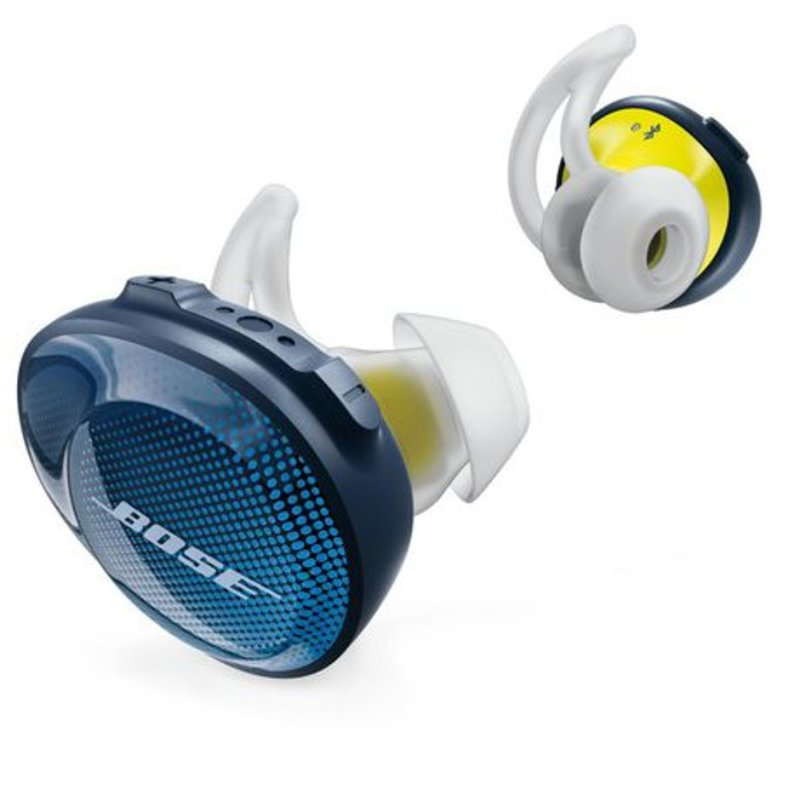 Bose SoundSport Navy Blue & Citron Free Wireless In-Ear Headphones for Android & iOS