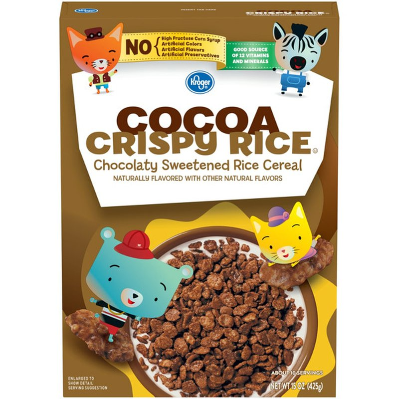 Kroger Cocoa Crispy Rice Chocolaty Sweetened Rice Cereal