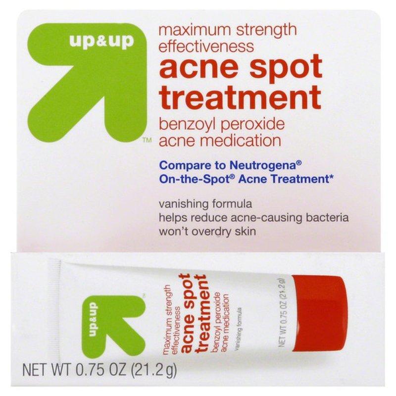Up Up Acne Spot Treatment Maximum Strength Effectiveness 0 75 Oz