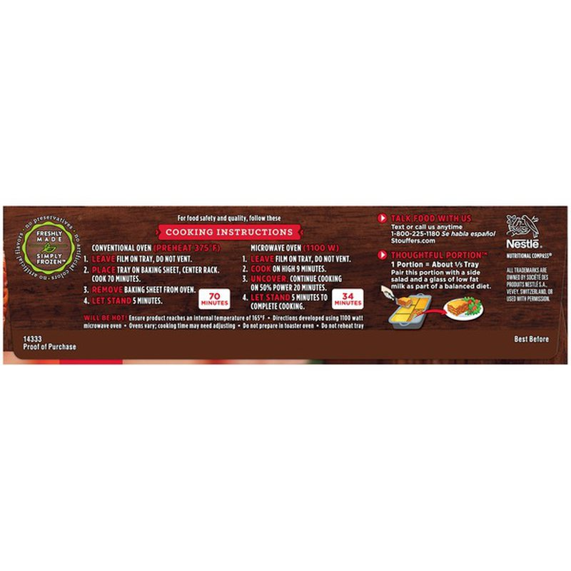Stouffer's CLASSICS Family Size Lasagna with Meat & Sauce