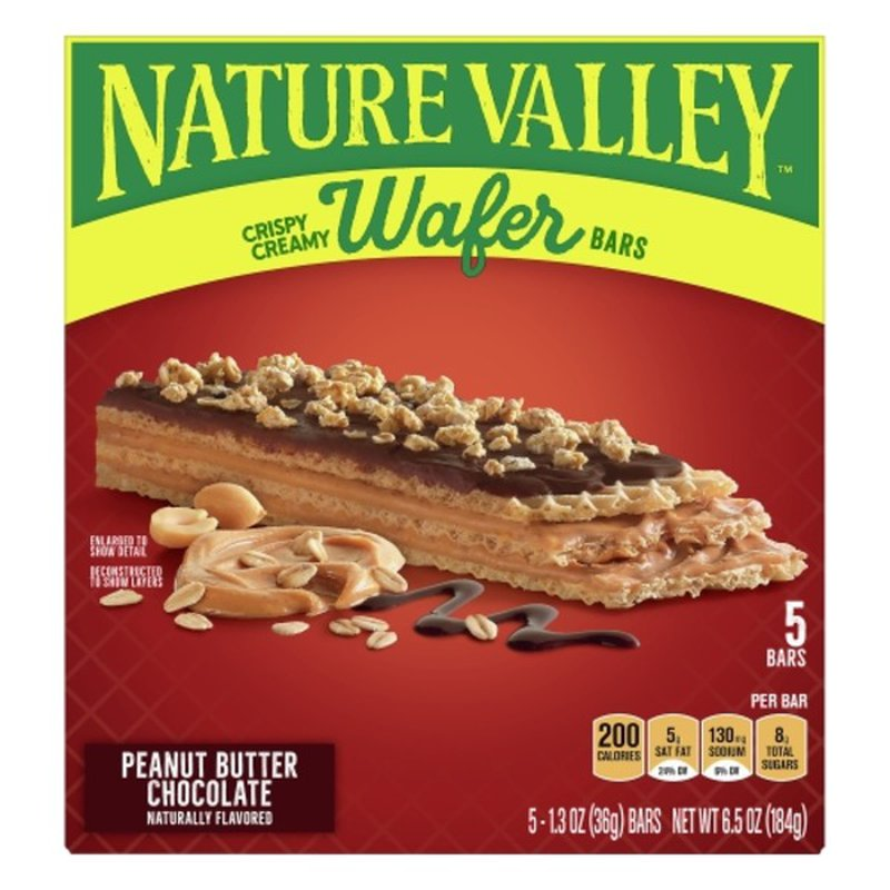 Nature Valley Wafer Bars, Peanut Butter Chocolate, Crispy Creamy