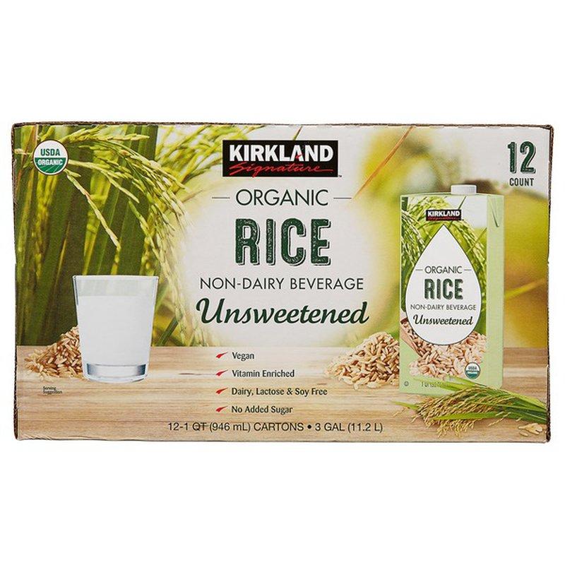 Kirkland Signature Organic Rice Milk, 12 x 32 oz