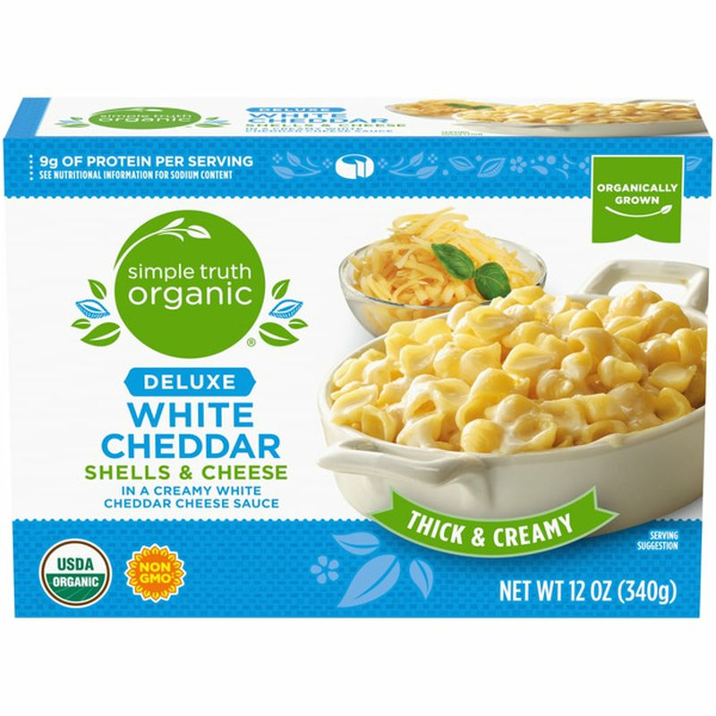 Simple Truth Organic Deluxe White Cheddar Shells & Cheese In A Creamy White Cheddar Cheese Sauce