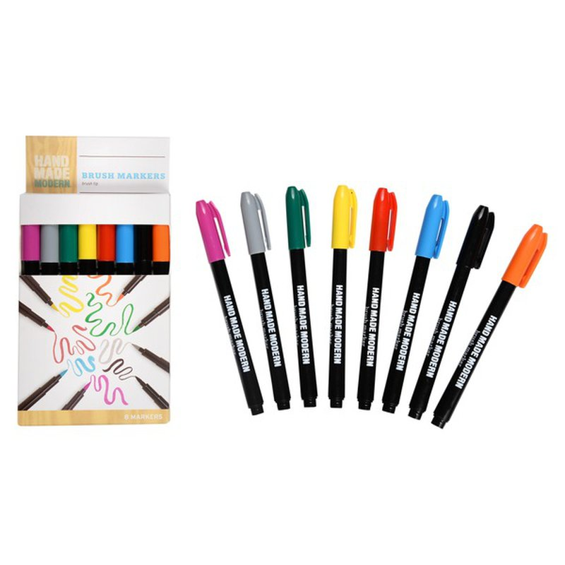 Hand Made Modern Multicolor Paint Brush Markers
