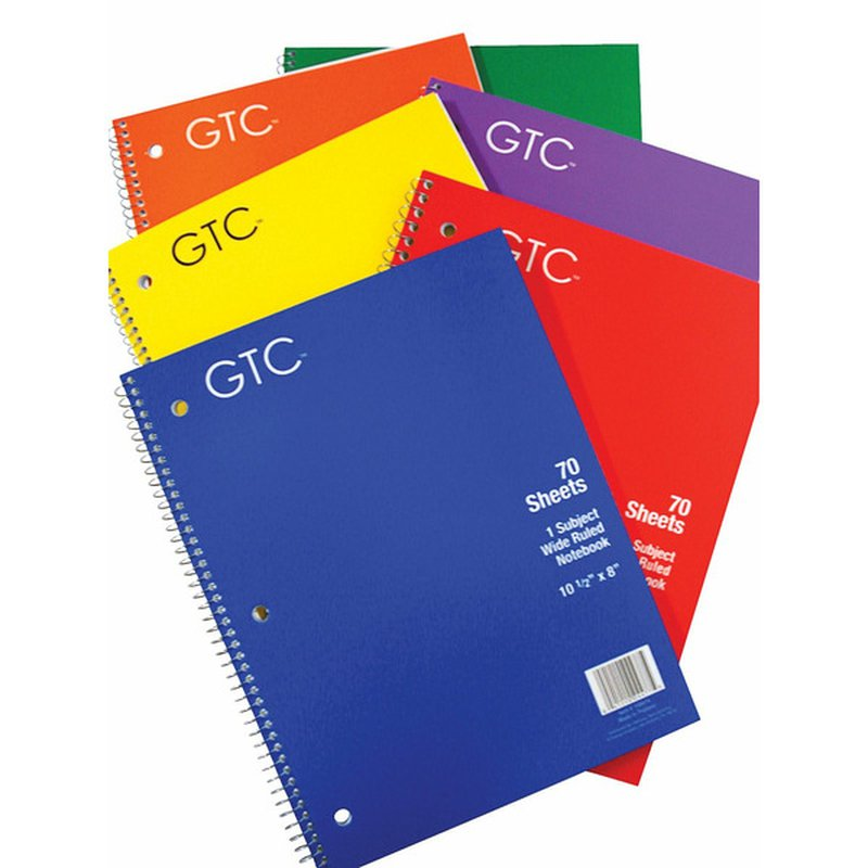 GTC 1 Subject Wide Ruled Notebook 70 Sheets