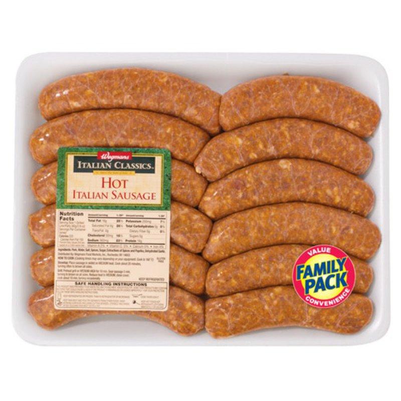 Wegmans Family Pack Italian Classics Hot Italian Sausage