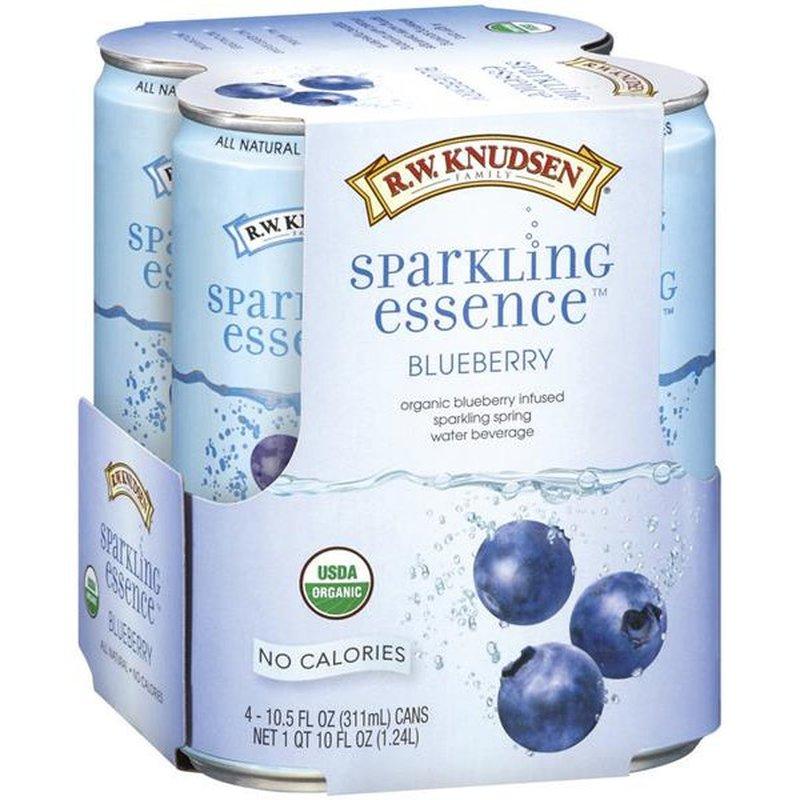 RW Knudsen Sparkling Spring Water Beverage, Organic, Blueberry