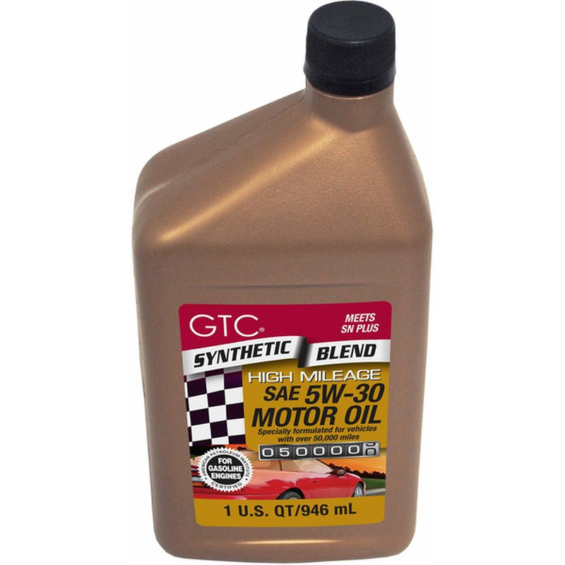 GTC Synthetic Blend High Mileage SAE 5W-30 Motor Oil
