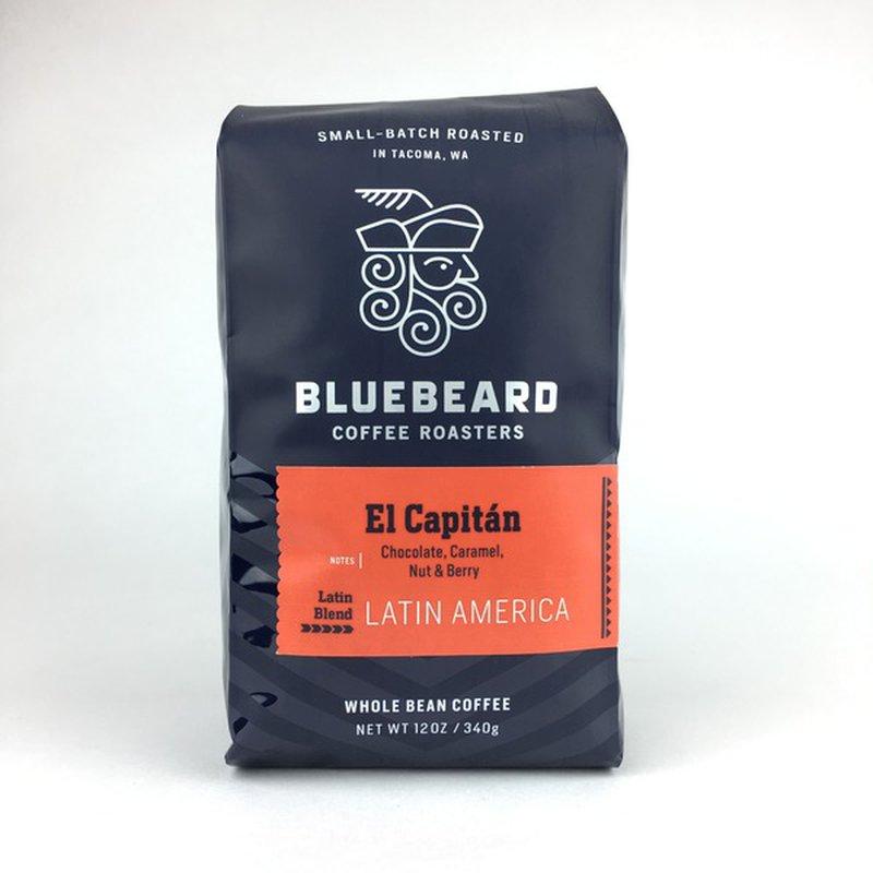 Bluebeard Coffee Roasters Latin Blend El Capitan Whole Bean Coffee
