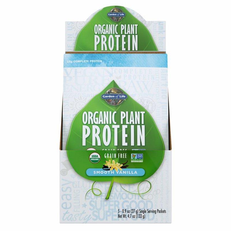 Garden of Life Organic Plant Protein Vanilla Box