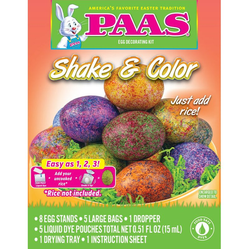 Paas Wip Shake & Color Easter Egg Decorating Kit