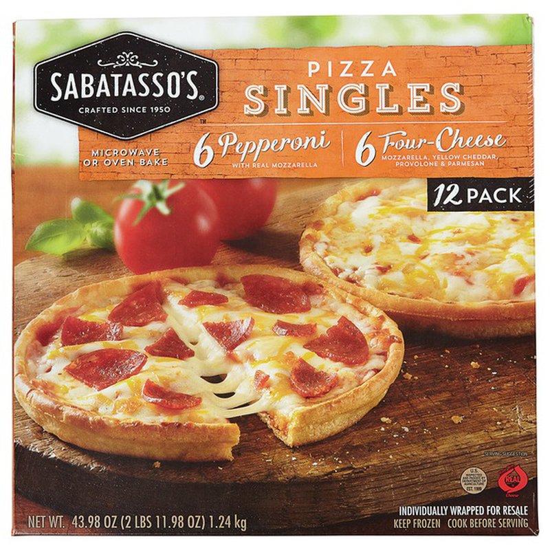 Sabatasso S Pizzeria Pepperoni Four Cheese Thin Crust Pizza Singles 43 26 Oz Instacart