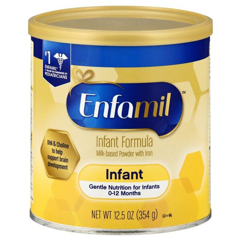 Enfamil Milk-Based with Iron Infant Formula Powder, 0-12 ...