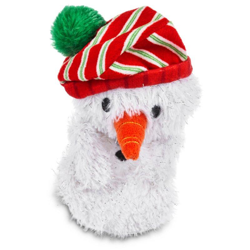 "Time For Joy 6"" Small Snowman Flattie Dog Toy"