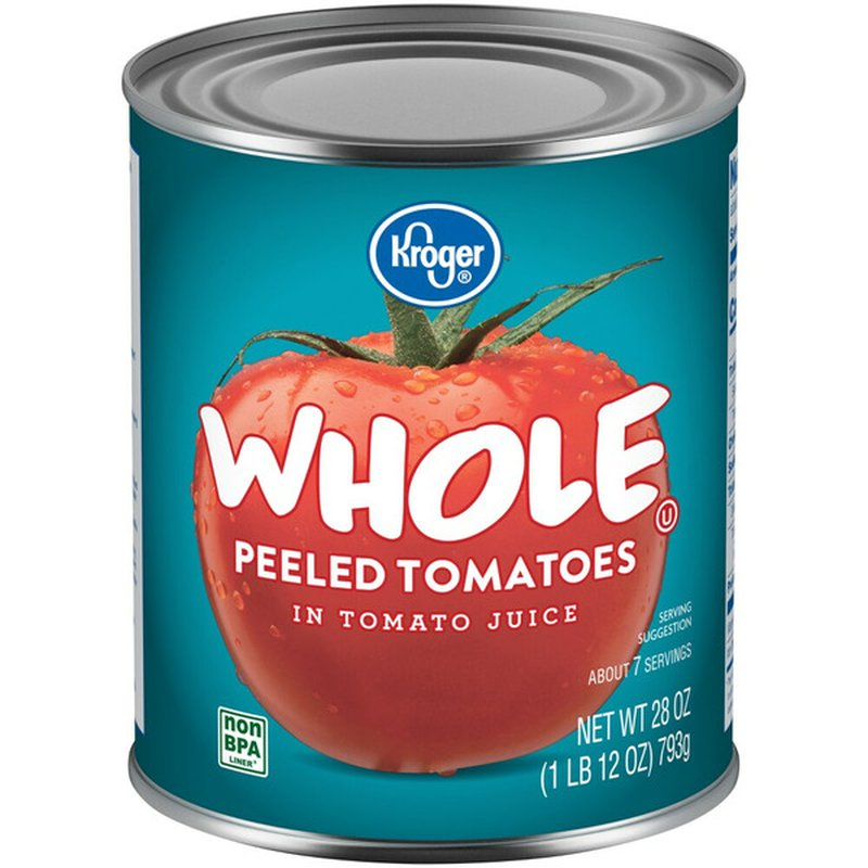 Kroger Whole Peeled Tomatoes in Tomato Juice