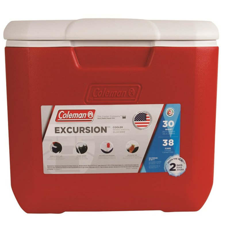 Coleman 30 Quart Red Performance Cooler