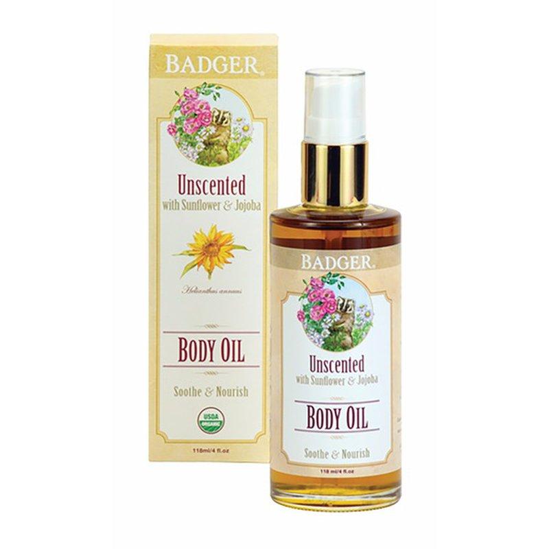 Badger Unscented With Olive & Jojoba Body Oil